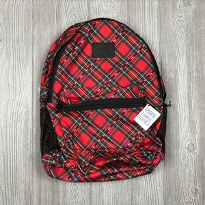 VS PINK Campus Backpack Red Plaid